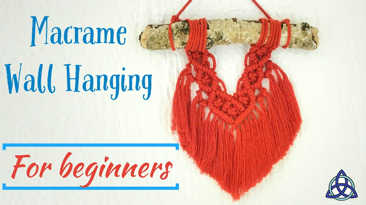 How To Make Easy Macrame Wall Hanging Tutorial For