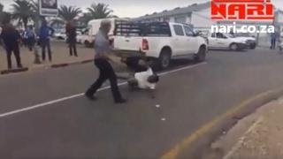 Street Fight in Windhoek Namibia