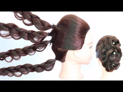 new beautiful hairstyle with trick || easy hairstyles || cute hairstyles || wedding hairstyles thumbnail