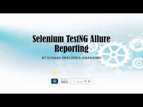Selenium TestNG Allure Reporting