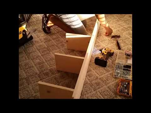 DIY $15 WOOD lack shelves (IKEA dupe)