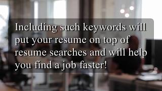 How to Write a Resume: Resume Tip #28 - Keywords