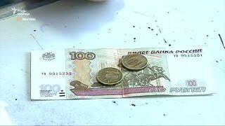 Жителька Донецька про рубль  «Це не гроші»