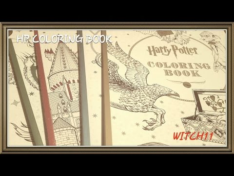 harry-potter-coloring-book-magical-creatures.-flip-through-&-review.