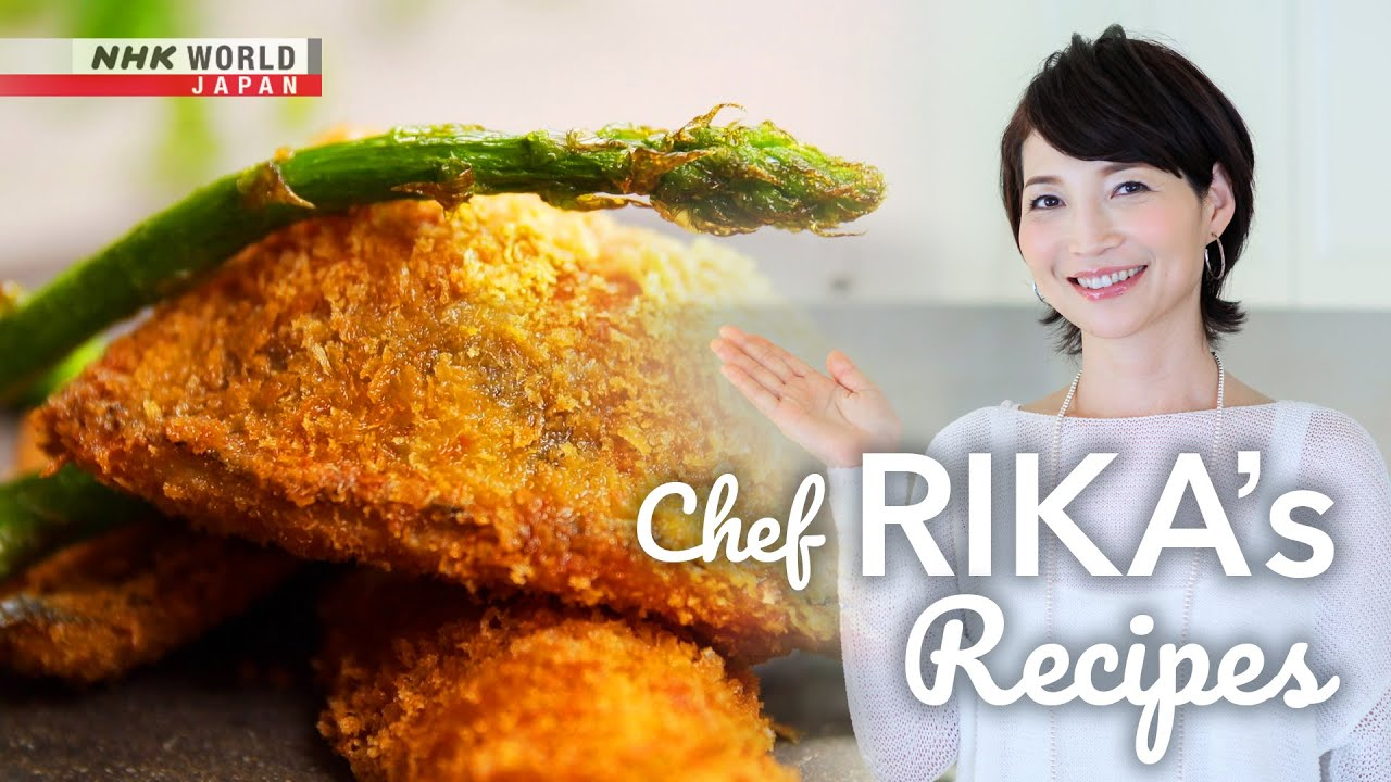 Photo of Chef Rika's Aji – Deep Fried Fish and Asparagus [Japanese Cooking] – Dining with the Chef – video