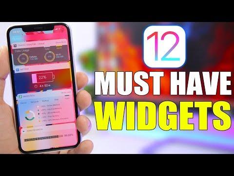 MUST HAVE iOS 12 Widgets !