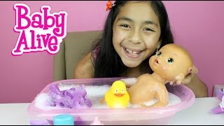 Baby Alive Doll Bath Time Doll Review and Play |B2cutecupcakes