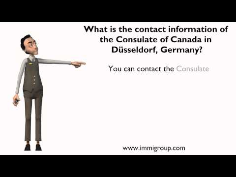 What is the contact information of the Consulate of Canada in Düsseldorf, Germany?
