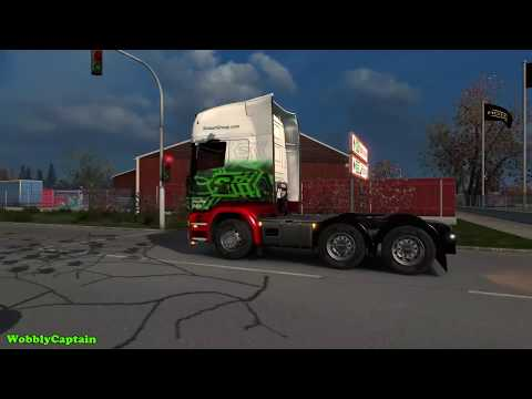 ETS2 Eddie Stobart Maydeburg To Gedser (Autumn Weather Mod)