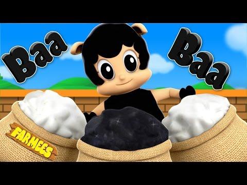 Baa Baa Black Sheep   3D Nursery Rhymes   Kids Rhymes By Farmees