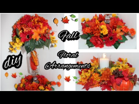 Diy fall floral arrangement dollar tree fall wedding diy fall floral arrangement dollar tree fall wedding centerpiece thanksgiving autumn youtube junglespirit Gallery