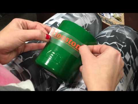 How To Apply Vinyl Decal To Yeti Cup YouTube - Vinyl stickers for cups