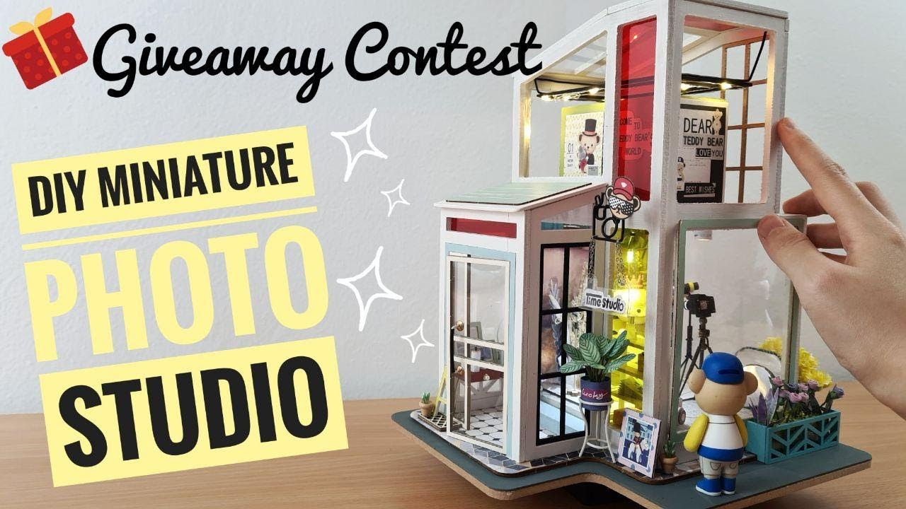 DIY Miniature Photo Studio [Giveaway Contest with Robotime]