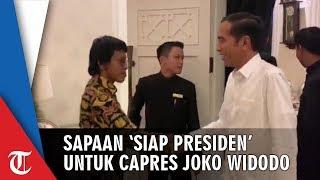 Momen Penuh Tawa Elite TKN Menyalami dan Menyapa Jokowi dengan 'Siap Presiden'