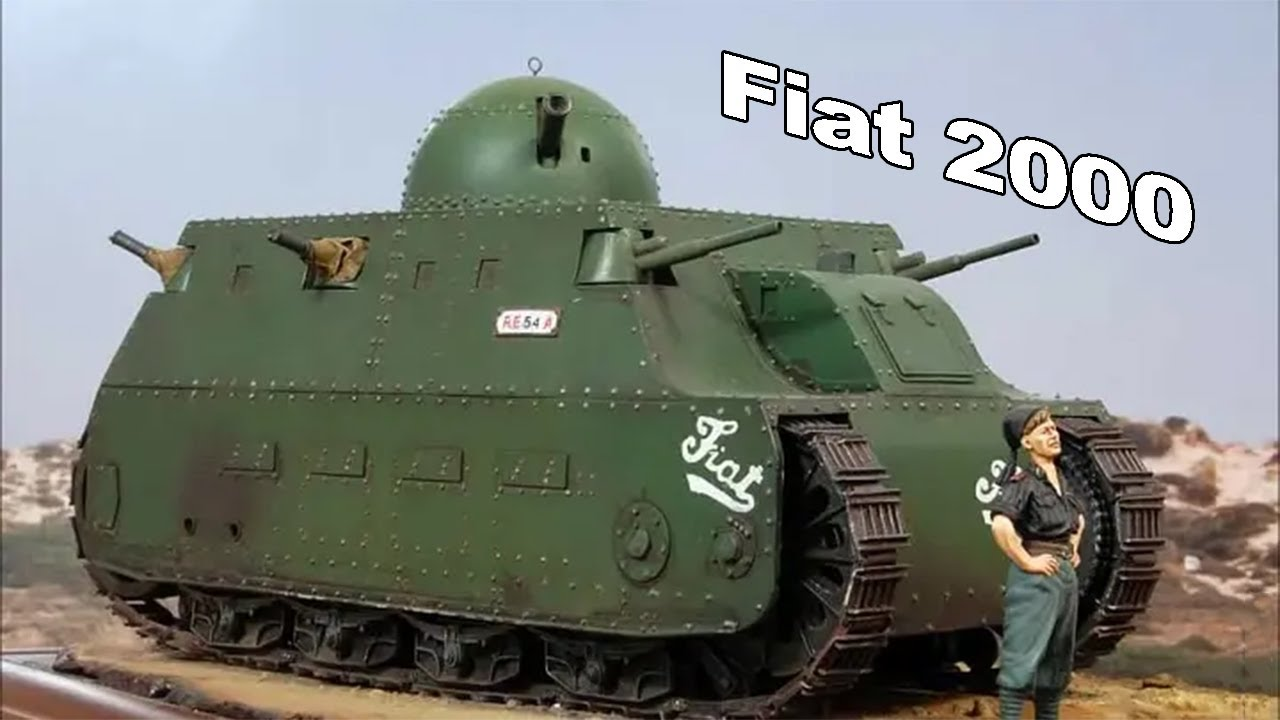 ПЕРВЫЙ Итальянский тяжелый танк Fiat 2000. Бронетехника Первой Мировой