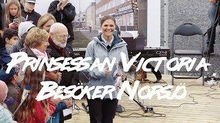 Kronprinsessan Victoria besöker Norsjö 2017 (Invigning arenaparken)