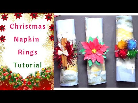 How to make Christmas Napkin Rings Easy and Cheap  :  Tutorial
