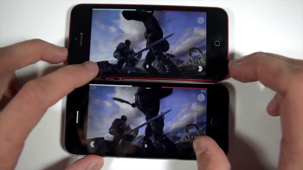 64 Bit Iphone 5s Vs 32 Bit Iphone 5 Running Infinity Blade