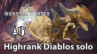 MHWorld | Highrank Diablos solo (Lance) - 2'18