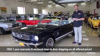 '66 Ford Mustang GT for sale with test drive, driving sounds, and walk through video