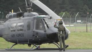 RNZAF BELL UH-1H HUEY NZ3816 START UP - TAKE OFF - HAMILTON