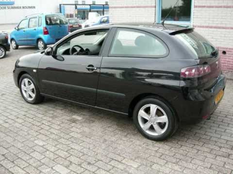 seat ibiza 1 6i sport bj 2007 zwart max car ede auto 39 s youtube. Black Bedroom Furniture Sets. Home Design Ideas