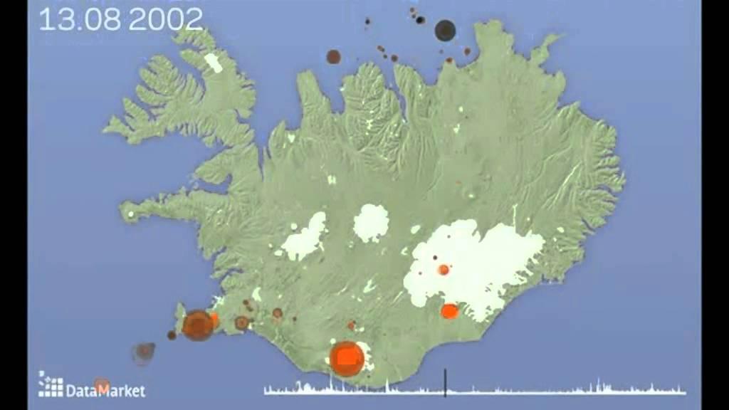 Island jordskælv og vulkanudbrud 1996-2011
