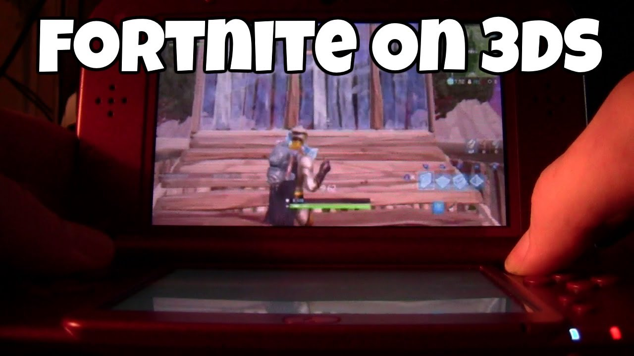 playing fortnite on nintendo 3ds - fortnite 3ds meme