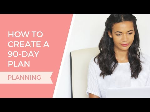 How To Create A 90 Day Plan | Organize Your Freelance Design Business