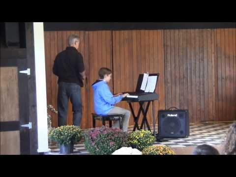 Xavier's Piano Recital - 10/5/14 Mills Apple Farm, Marine, IL