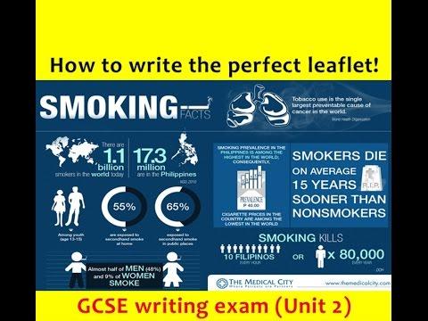 9-1 GCSE English Language: LEAFLET Writing (NEW and UPDATED 2017!)