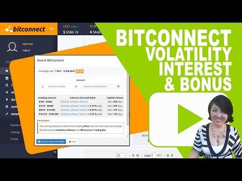 BitConnect Volatility Software Interest Bonuses