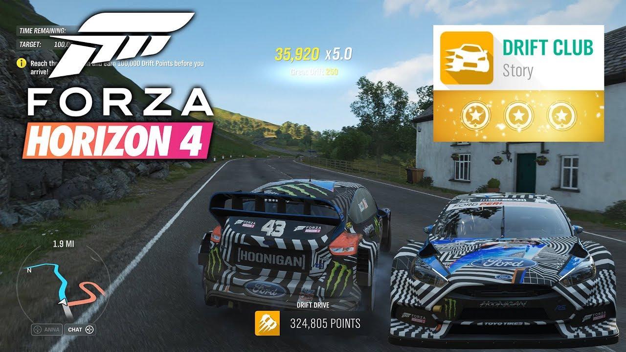 forza horizon 4 drift club chapter 6 3 stars gameplay - youtube