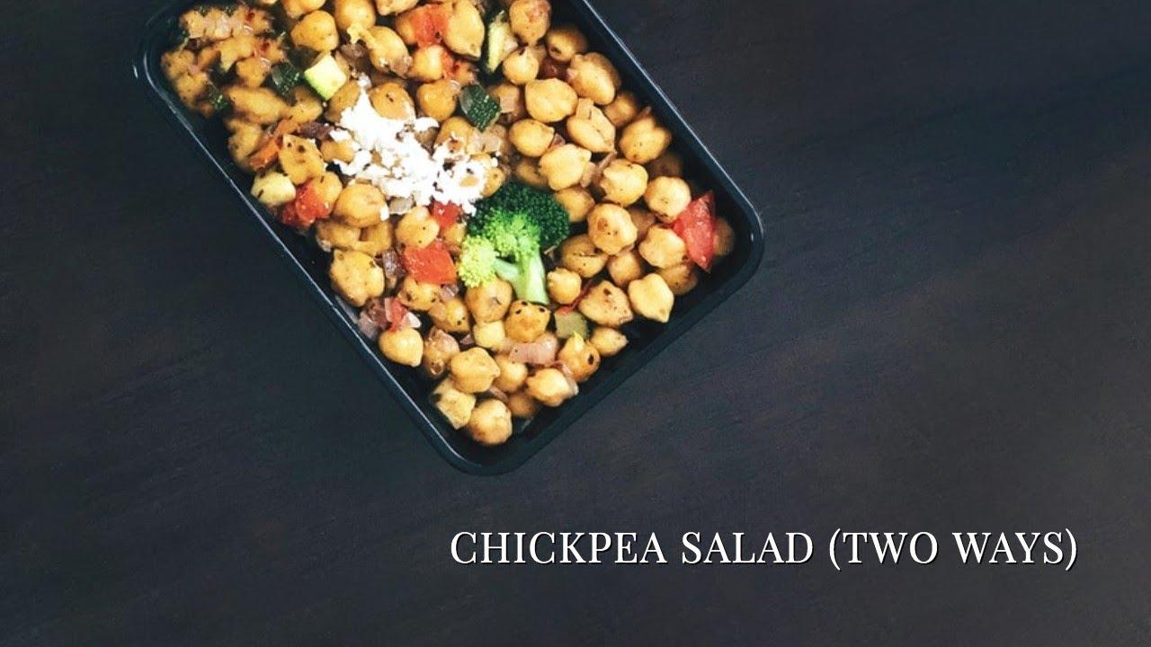 Chickpea Salad (Two Ways: Greek with Kalamata Olives, Lemon & Dill)