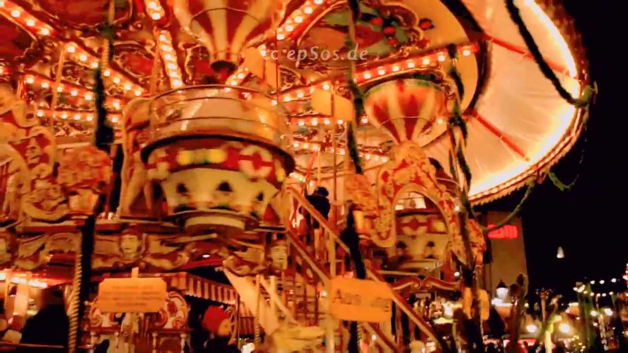 Giant Christmas Carousel In Germany Youtube