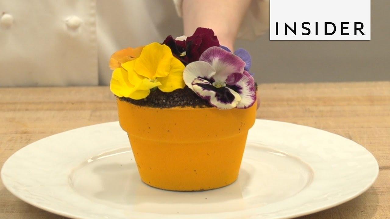 Flower Pot Dessert At Jardin