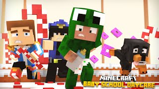 Minecraft -BABY SCHOOL DAYCARE - BABIES GO TO JAIL!!