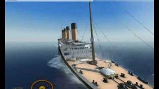 The anchor trick in Ship Simulator 2008 (Titanic sinking)