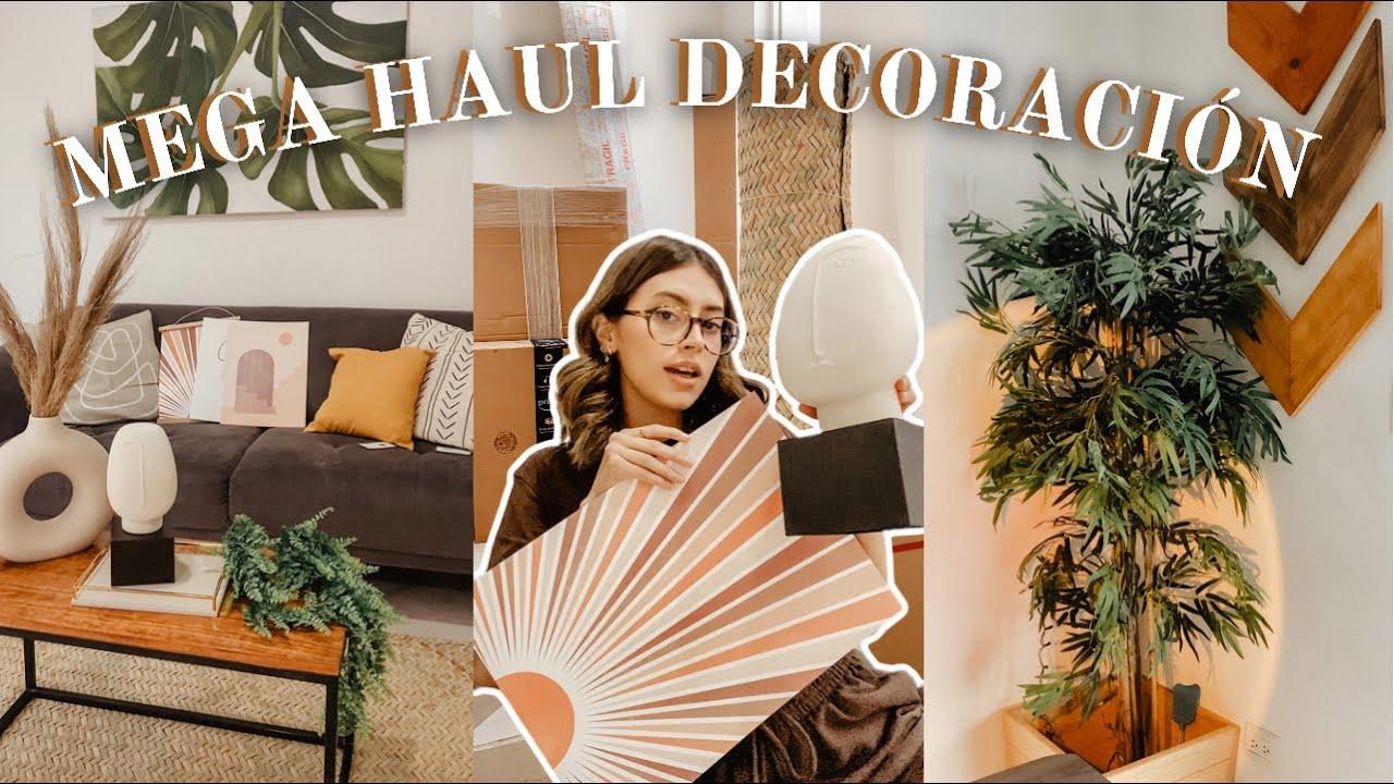 MEGA HAUL de cosas pa'l hogar (decoración, muebles, plantas) de h&m, amazon & mercadolibre