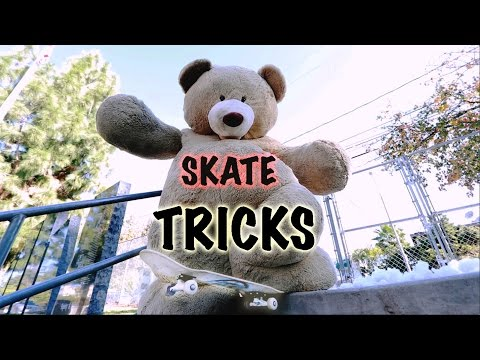 GIANT TEDDY BEAR SKATEBOARDING