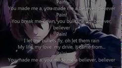 Believer Imagine Dragons~ Nightcore~ Lyrics