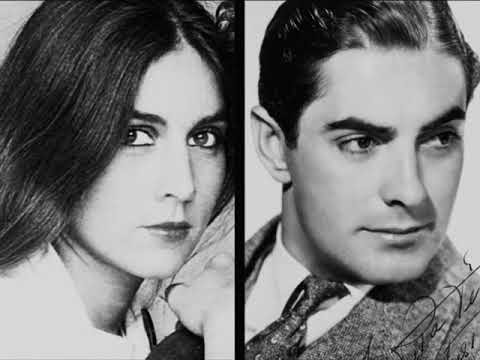Romina Power and Tyrone Power  Daughter and father