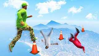 MISS JUMP = FALL TO DEATH! (GTA 5 Funny Moments)