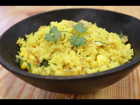 Corn Poha   Recipes Under 15 Minutes   Chef Jaaie   Sanjeev Kapoor Khazana
