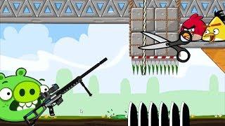 Crush Bad Piggies - BATTLE FULL ANGRY BIRDS SQUASH ALL PIGGIES GAMEPLAY!