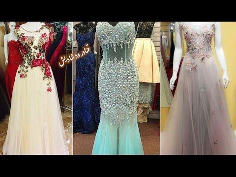 59a9b0e64005b موديلات فساتين سهرة روعة وفساتين قطيفة لمحبات التميز 👗fashion dresses 2017