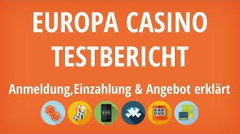 Europa Casino Testbericht: Anmeldung & Einzahlung erklärt [4K]