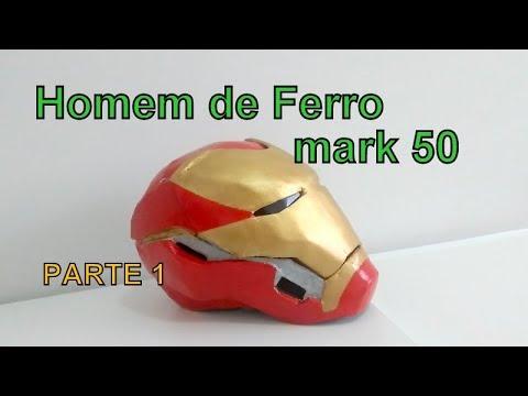 Como Fazer Capacete Homem De Ferro Mark 50 Parte 1 Youtube