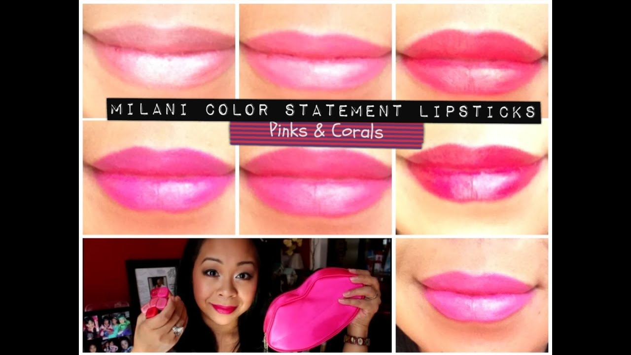 NEW Milani Color Statement Lipsticks (pinks & corals ...