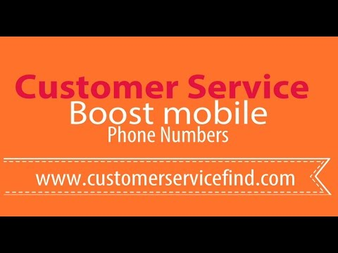 Boost mobile customer service number 24 hours live person